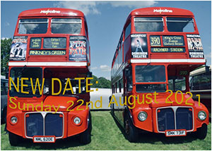 photo of red buses